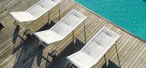 Contemporary sun lounger / cast aluminum / on casters / GreenGuard® certification