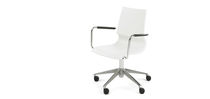 Contemporary office chair / swivel / on casters / with armrests