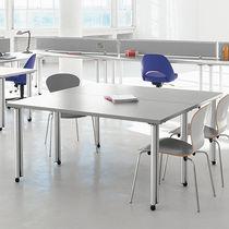 Contemporary boardroom table / laminate / round / rectangular
