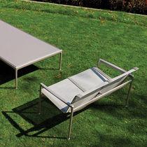 Contemporary sofa / garden / mesh / steel