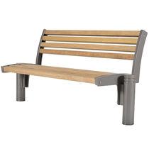 Public bench / garden / traditional / wooden
