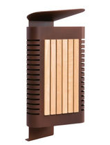Public trash can / built-in / wooden / contemporary