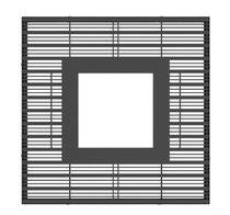 Metal tree grate / square