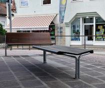 Public bench / contemporary / wooden / metal