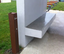 Pedestal ashtray / steel / for outdoor use / for public areas