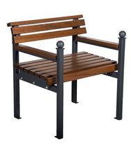 Wooden urban armchair / for public areas / indoor / contemporary