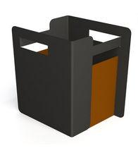 Plastic planter / square / contemporary / for public areas