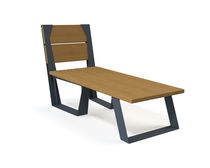 Contemporary sun lounger / wooden / for public spaces