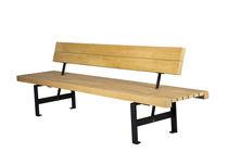 Public bench / contemporary / wooden / modular