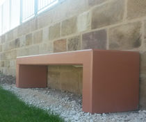 Public bench / original design / concrete