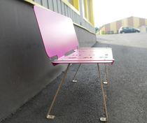 Public bench / contemporary / composite / with backrest