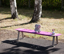 Public bench / contemporary / composite