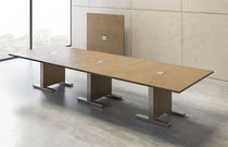 Boardroom table / contemporary / wooden / rectangular
