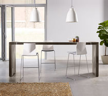 High bar table / contemporary / wooden / rectangular