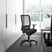 Contemporary office armchair / metal / mesh / on casters