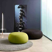 Contemporary pouf / fabric / round / commercial