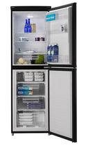 Residential refrigerator-freezer / double door / black / energy-efficient