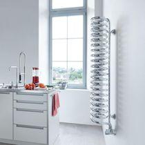 Hot water towel radiator / electric / metal / original design