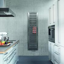 Hot water radiator / electric / metal / contemporary