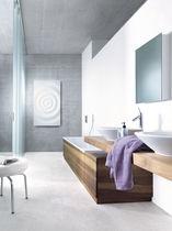 Hot water radiator / electric / Corian® / original design