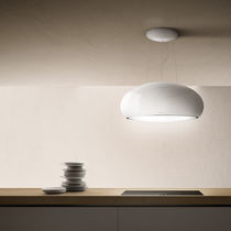 Island extractor hood / with built-in lighting / original design