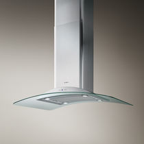 Island extractor hood / with built-in lighting