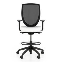 Work stool / contemporary / fabric / mesh