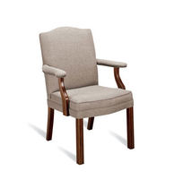 Classic visitor chair / wooden / with armrests
