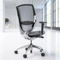 Contemporary office armchair / fabric / adjustable-height / swivel