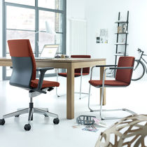 Contemporary office armchair / fabric / on casters / star base
