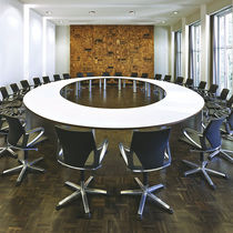 Contemporary conference table / wooden