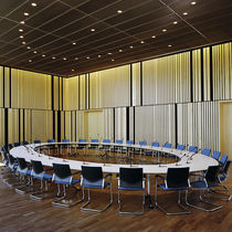 Contemporary conference table / laminate / rectangular / oval