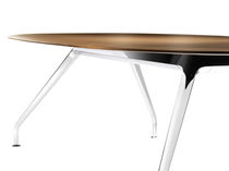 Conference table / contemporary / wooden / oval
