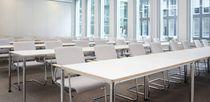 Contemporary table / laminate / rectangular / square