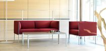 Modular sofa / contemporary / leather / aluminum