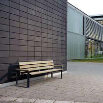 Public bench / contemporary / ash / galvanized steel