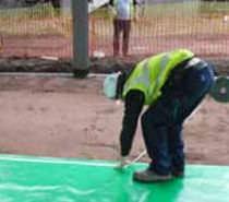 Low-density polyethylene (LDPE) waterproofing membrane / barrier / roll / flexible