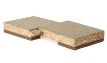 Floor acoustic panel / particle board / self-supporting / commercial