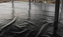 High-density polyethylene (HDPE) waterproofing membrane / flat roof / liquid / protection