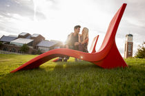 Contemporary chaise longue / polyethylene / outdoor / for public areas