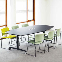 Contemporary boardroom table / wood veneer / laminate / melamine