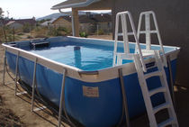 above-ground metal frame swimming pool FASTLANE POOL ENDLESS POOLS