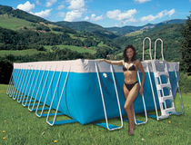 above-ground metal frame swimming pool INTERNATIONAL LAGHETTO