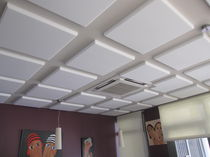 acoustic ceiling tile in melamine CAPTEUR ACOUSTISSIMO&reg; M&Eacute;LAMINE DECIBEL FRANCE