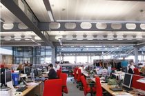 acoustic metal suspended ceiling (modular Hook-On tiles, concealed grid) SYSTEM 200 SAS International
