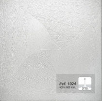 acoustic suspended ceiling tile in plaster REF. 1024 Prefaes