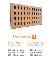 acoustic terracotta panel for facade XB SYSTEM FAVEMANC