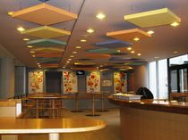 acoustic tile for suspended ceiling capteur ACOUSTISSIMO® tissu DECIBEL FRANCE