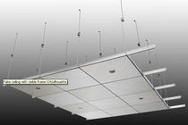 acoustic wooden suspended ceiling SCREENBALL®: VISIBLE FRAME T24/SILHOUETTE PREAM s.r.l