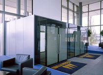 all glass swing door IGG GEZE